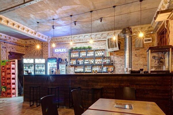 Świetnie wyposażony bar